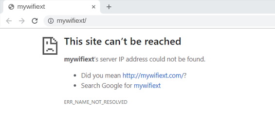 mywifiext.net not working