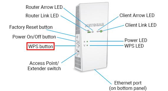 Netgear EX6400 Setup WPS button
